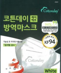 코튼데이 미세먼지마스크 대형 성인용 (KF94) 1P