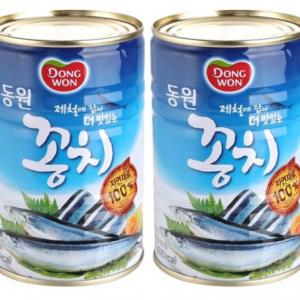 동원 꽁치 통조림 2개 (400g)